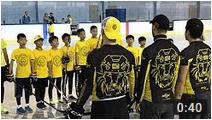 Китайские дети на летних сборах, благодарность после каждой тренировки
